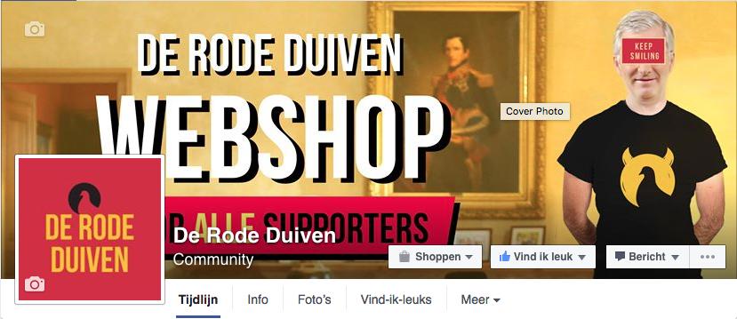 Facebookpagina De Rode Duiven